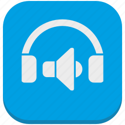 device, functions, head, headphones, listen, smartphone, speakers icon