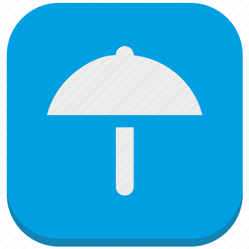 functions, protection, rain, safety, smartphone, umbrella, weather icon