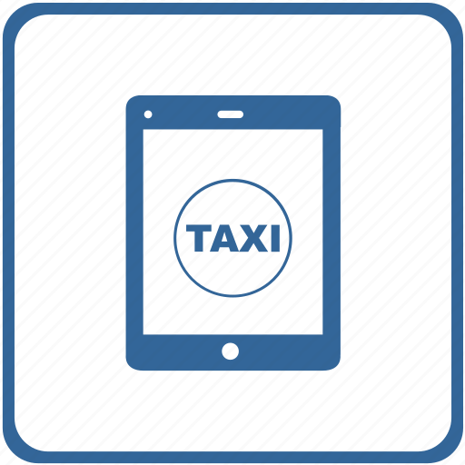 device, mobile, service, smartphone, tablet, taxi, wifi icon
