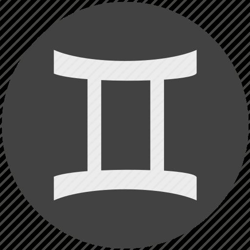 Zodiac, gemini, sign, horoscope icon