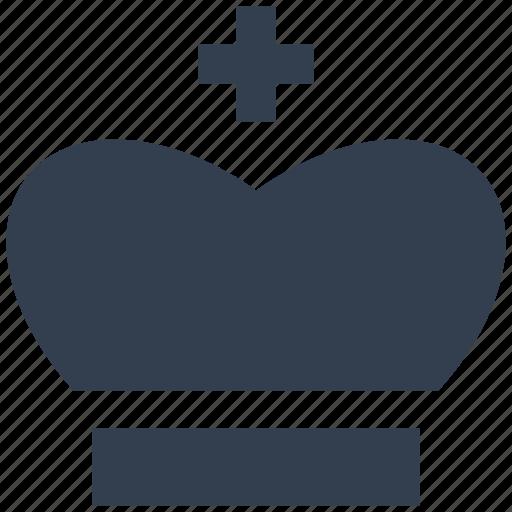 classic, crown, monarh, papa, religious, silhouette icon