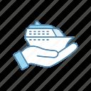 agency, cruise, service, ship, shore, tour, travel icon