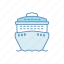 boat, cruise, ferry, liner, ocean, ship, voyage icon