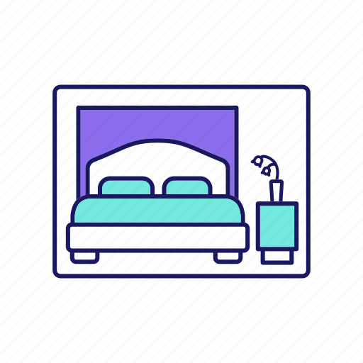 bedroom, cabin, cruise, double, hotel, room, ship icon
