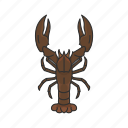 american lobster, animal, crayfish, crustacean, freshwater lobster, sea creature icon