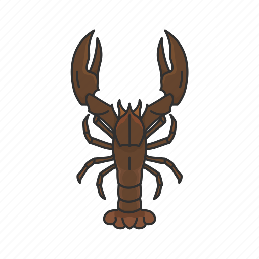 american lobster, animal, crayfish, crustacean, freshwater lobster, sea creature icon