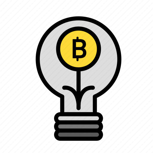 bitbulb, blockchain, currency, finance, network icon