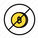 bitcoin, blockchain, currency, finance, interdiction, network icon