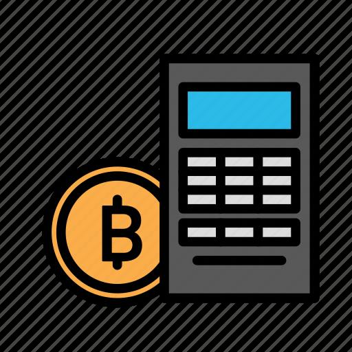 blockchain, calculator, currency, finance, network icon