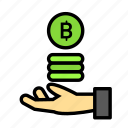 blockchain, coinholdhand, currency, finance, network icon