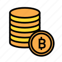blockchain, coins, currency, finance, network icon