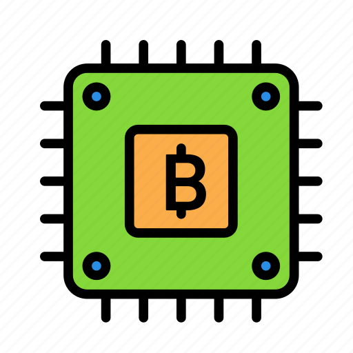 blockchain, cpu, currency, finance, network icon