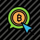 blockchain, currency, cursor, finance, network icon