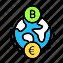 blockchain, currency, exchange, finance, network icon