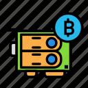 blockchain, currency, finance, gpu, network icon