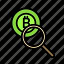 blockchain, currency, finance, investigate, network icon