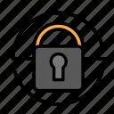 blockchain, currency, finance, locker, network icon