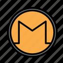 blockchain, currency, finance, monero, network icon