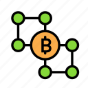 1, blockchain, currency, finance, network icon