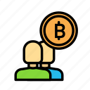 blockchain, currency, finance, network, partners icon