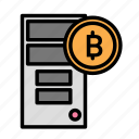 blockchain, currency, finance, network, pc icon