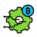 blockchain, currency, finance, network, settings icon