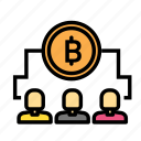 blockchain, currency, finance, network, teamcoin icon
