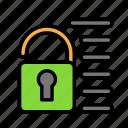 blockchain, currency, finance, network, unlock icon