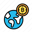 blockchain, currency, finance, network, worldcurrency icon