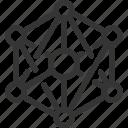 anonymous, nodes, peer, scheme, to, web icon