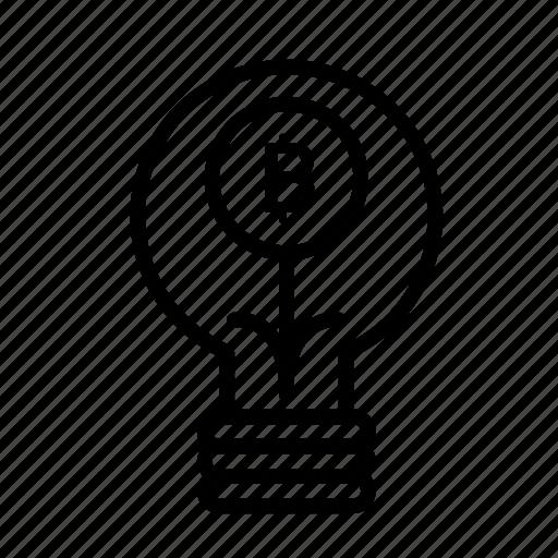 bitbulb, blockchain, currency, finance, network icon