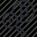 bitcoin, blokchain, chart, cryptocurrency, line, statistics, trade icon