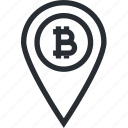address, bitcoin, blokchain, cryptocurrency, line, location, wallet icon