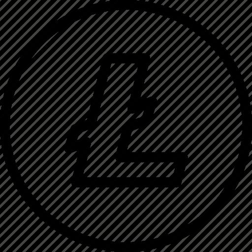 blockchain, btc, coin, crypto, cryptocurrency, litecoin, ltc icon