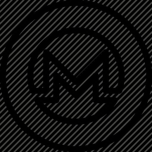 blockchain, btc, coin, crypto, cryptocurrency, monero, xmr icon