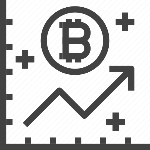 bitcoin, cryptocurrency, graph, money, monitor icon