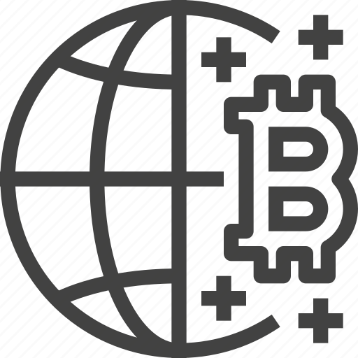 bitcoin, blockchain, cryptocurrency, global, network icon