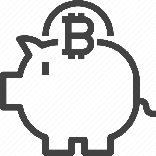 banking, bitcoin, cryptocurrency, money, saving icon