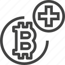 cryptocurrency, add, coin, plus, bitcoin