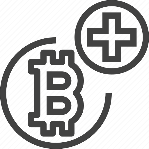 add, bitcoin, coin, cryptocurrency, plus icon
