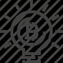 cryptocurrency, lightbulb, idea, business, money