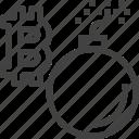 break, cryptocurrency, bomb, finance, money