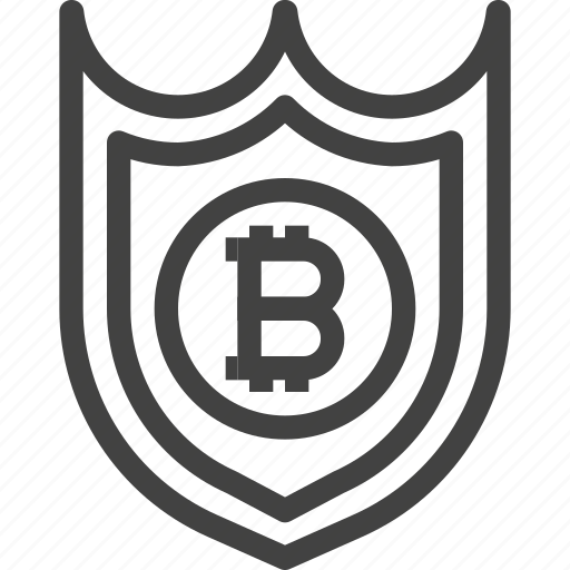 bitcoin, blockchain, cryptocurrency, protect, protection, safety, shield icon