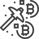 bitcoin, coin, cryptocurrency, finance, mining, money icon