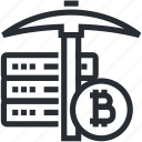 bitcoin, blokchain, cryptocurrency, hardware, mining, trade, wallet icon