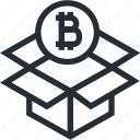 bitcoin, blokchain, box, cryptocurrency, mining, trade, wallet icon