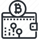 bitcoin, blokchain, cryptocurrency, mining, safe, trade, wallet icon