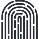 bitcoin, blokchain, cryptocurrency, fingerprint, protection, verification, wallet icon