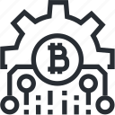 technology, mining, trade, wallet, bitcoin, cryptocurrency, blokchain icon