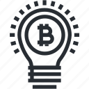 bitcoin, blokchain, cryptocurrency, idea, mining, trade, wallet icon